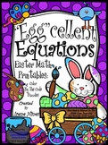 """Easter: """"Egg""""cellent Equations ~ Math Printables Color By The Code Puzzles"""