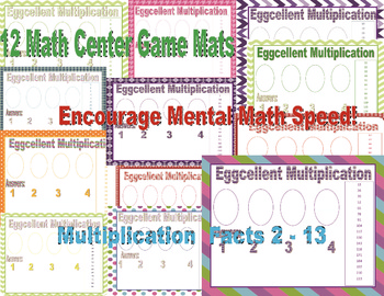Eggcellent Multiplication Game Common Core Centers  (No Clip art)