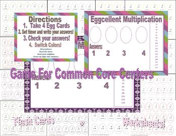 Eggcellent Multiplication Game Common Core Centers  (No Clip art)