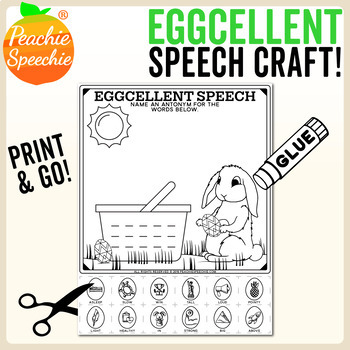 Eggcellent Speech Craft {No Prep}