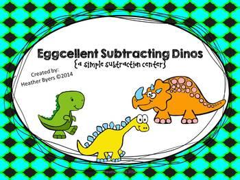 Eggcellent Subtracting Dinos {simple subtraction}