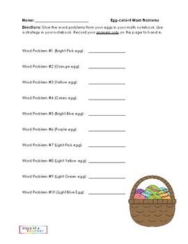 Eggcellent Word Problems