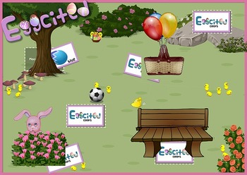 """Eggcited"" - an Easter egg game(""there are"", ""there is"", and prepositions)"