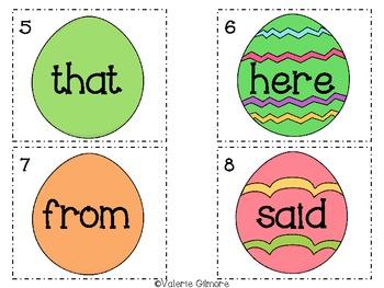 """Eggciting"" Sight Word Egg Hunt"