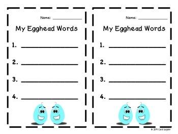 Egghead Words for Third Grade