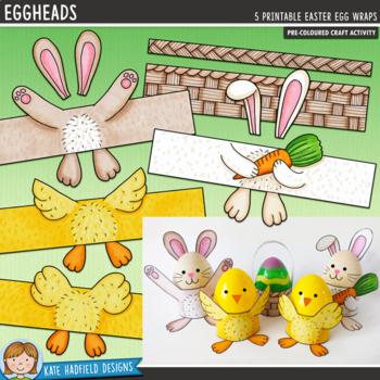 Easter Egg Craft (pre-coloured)