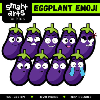 Eggplant Emoji Clip Art