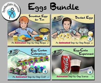 Eggs Bundle - Animated Step-by-Steps® - SymbolStix