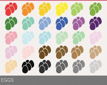Eggs Digital Clipart, Eggs Graphics, Eggs PNG, Rainbow Egg