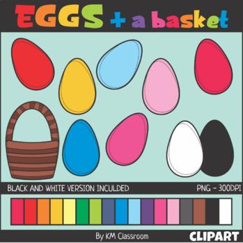 Eggs Easter Spring Clip Art