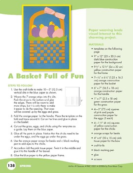 Eggs and Baskets Art Projects