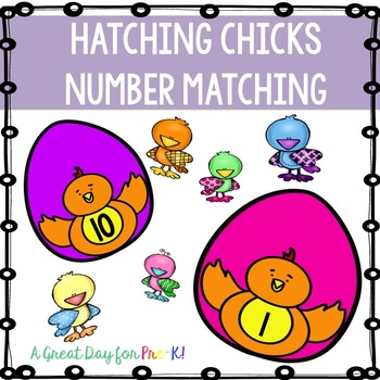 Eggs and Chicks Counting Mats for Preschool, Prek, and Kindergarten