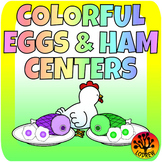 Eggs and Ham Centers Spring Activities Math Literacy Color