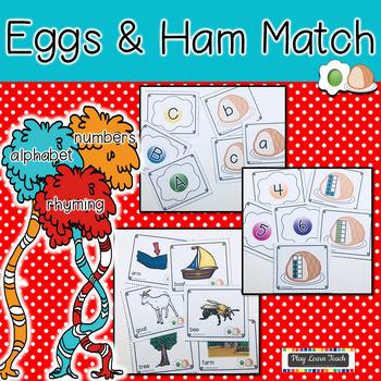 Eggs and Ham Matching Activities