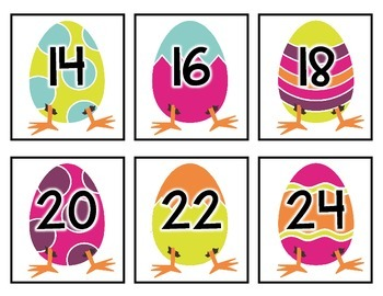Eggs and Legs: Counting By Twos Math Centre