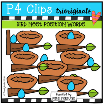 Eggs and Nests POSITION WORDS (P4 Clips Trioriginals)