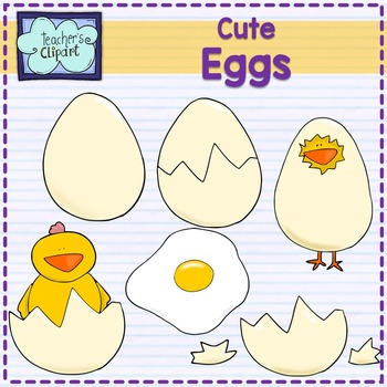 Eggs clip art - Commercial use ok - Line art Included