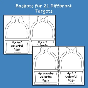 """""""Eggs in a Basket"""" A Spring and Easter Egg low-prep Articulation Activity"""