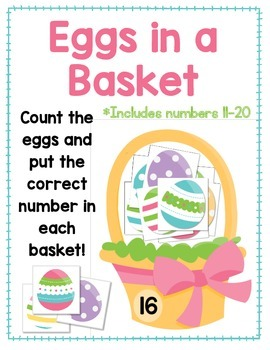 Eggs in a Basket FREEBIE:  Counting Numbers 11-20