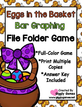Eggs in the Basket Bar Graphing File Folder Game
