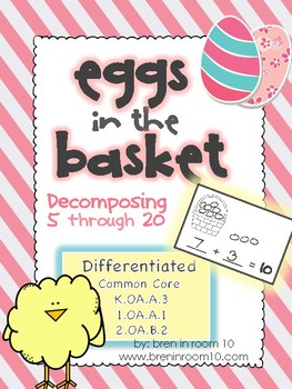 Decomposing 5 through 20 with Eggs in the Basket