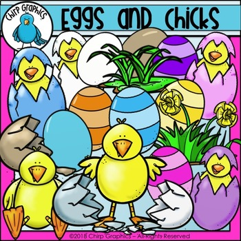 Eggs and Chicks Clip Art Set - Chirp Graphics