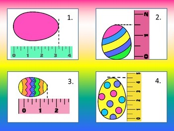 Eggs-tra Fun with Measurement: Nearest half and quarter inch