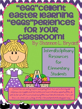 """Easter Unit (""""Eggs""""cellent Learning """"Eggs""""periences for Your Classroom)"""