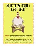 Eggselent Subtraction Center- Numbers 0-10