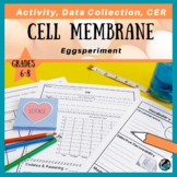 Cell Membrane Eggsperiment Activity, CER, & Rubric {Aligns with NGSS MS-LS1-2}