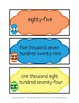 Reading Number Words- Eggstra Value