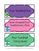 Reading Number Words- Eggstra Value