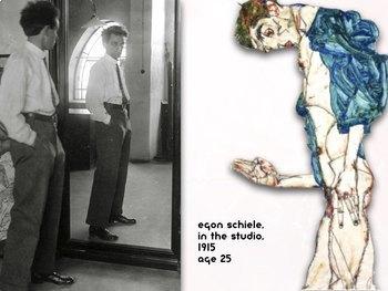 Egon Schiele - Expressionism - Art History - Human Figure - 172 Slides