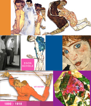 Egon Schiele - Expressionism Expressionist - Art History - FREE POSTER