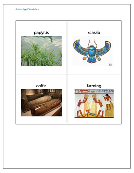 Egptain Picture Vocabulary