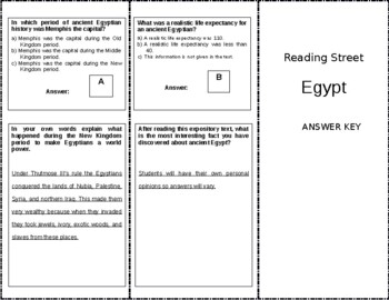 Egypt - 6th Grade Reading Street