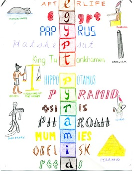 Egypt Acrostic; Illustrated... by Creative History   Teachers Pay ...