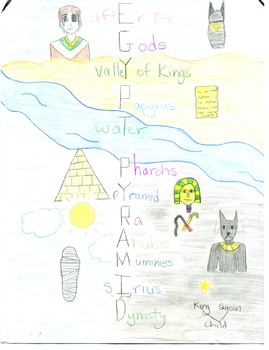 Egypt Acrostic; Illustrated Poem of Ancient Egypt