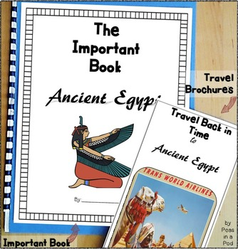 Egypt Ancient Civilizations Travel Brochure & Important Book