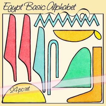 Egypt Basic Alphabet Hieroglyphics