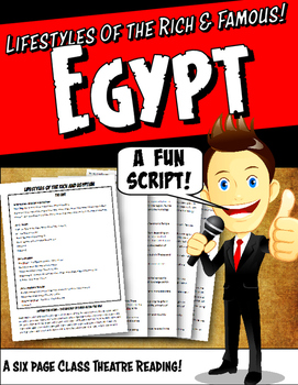 Egypt Reader's Theater Script with Graphic Organizer & Rubric: Act Out History!