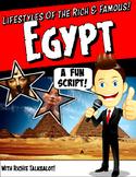 Egypt Reader's Theater Script with Graphic Organizer & Rub