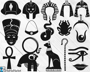 Egypt Designs Clip Art And Cutting Files Digital Files Cod115c By Hahahaart