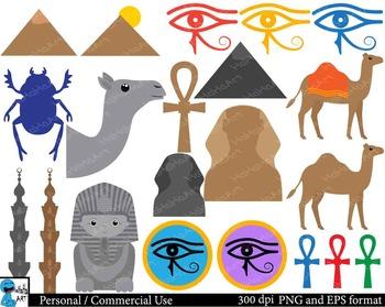 Egypt Digital Clip Art Graphics 51 images cod28