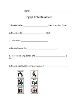 Egypt Entertainment Reading and Questions