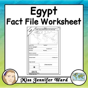 Egypt Fact File Worksheet