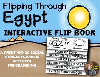 Egypt Flip Book: A Social Studies Interactive Activity for Grades 3-5