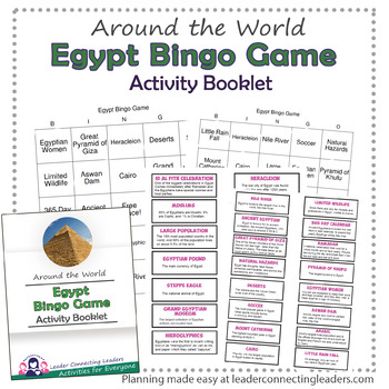 Egypt Fun Fact Bingo Game