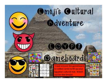 Egypt Game - Emoji's Cultural Adventure Gameboard
