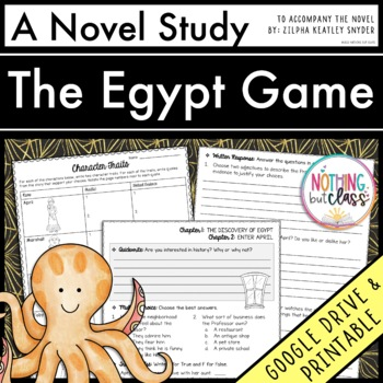 the egypt game teaching resources teachers pay teachers rh teacherspayteachers com Kindergarten Comprehension Questions Sample of Comprehension Questions